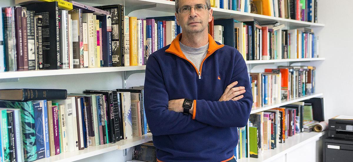 Ken Koltun-Fromm in his office.
