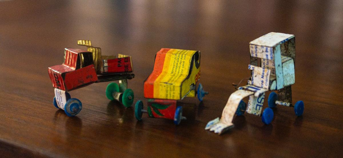 Handmade toy trucks