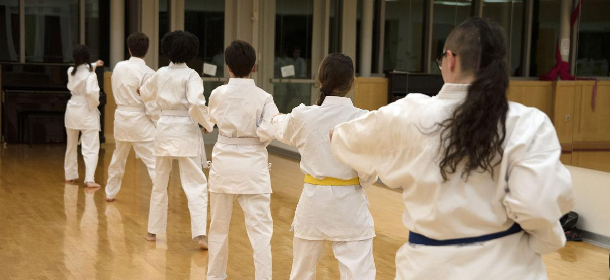Students practicing Shotokan Karate