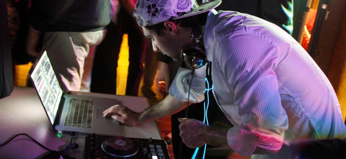 DJ Ash Khayami '16 on the decks
