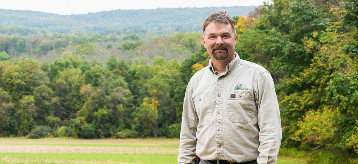 Dan Barringer in Crow's Nest Preserve
