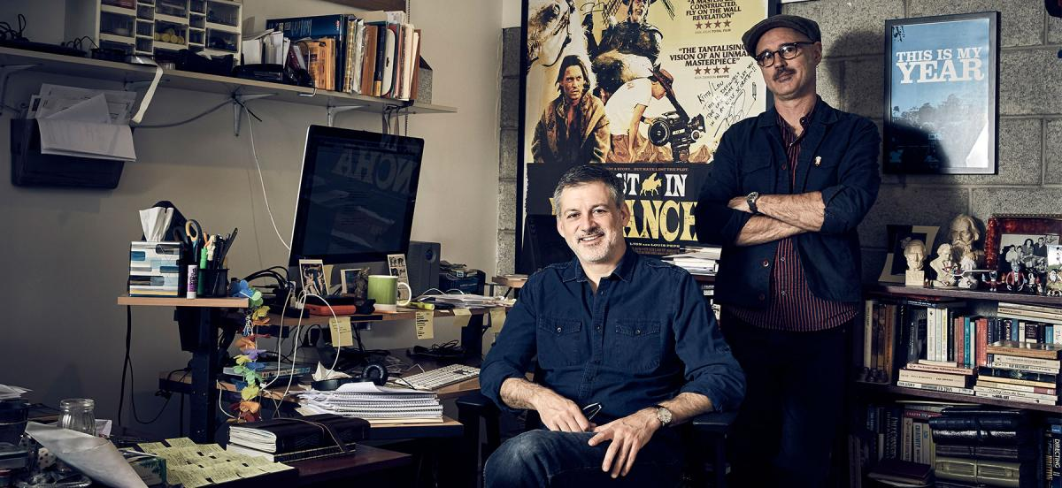 Keith Fulton and his production partner and husband Louis Pepe in their editing studio
