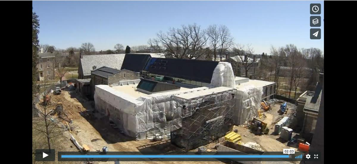 screen shot of library construction video