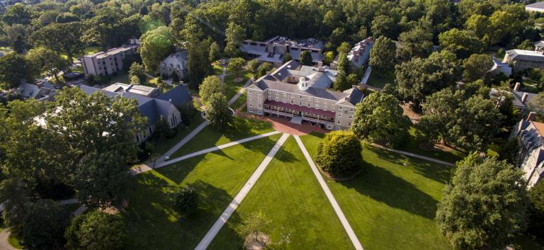 Founders Hall as seen from the sky