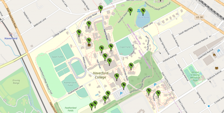 haverford college campus map Sustainability Haverford College haverford college campus map