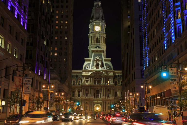 city hall at the end of broad street in philadelphia